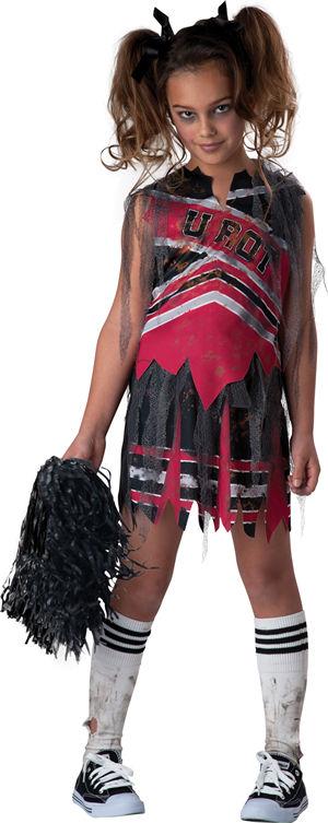 <Lady Cat> Spiritless Cheerleader Kids Costume