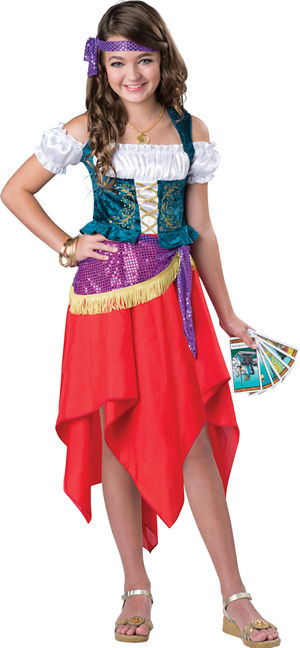 <Lady Cat> Mystical Gypsy Kids Costume