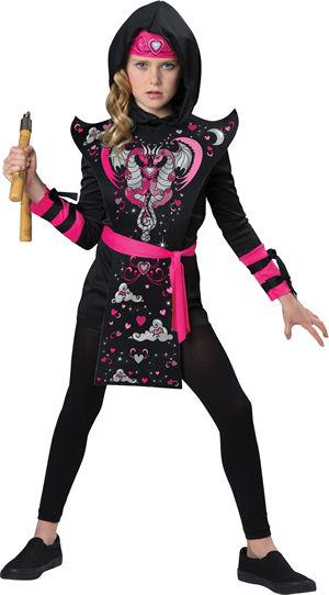 <Lady Cat> Ninja Girl Kids Costume