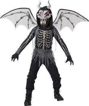 <Lady Cat> Dragon Skeleton Kids Costume