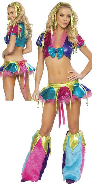 水着/下着/コスチューム/ダンスウェア/ドレスのオークション Mardi Gras Jester with Legwarmers