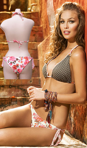 Lady Cat Express お勧め水着通販 LPH540006-320033 Isis Triangle Bikini with Latin Cut Tie Side Bottom