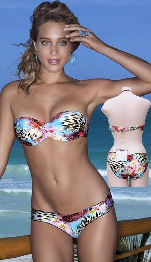 Lady Cat Express お勧め水着通販 LLFL370083-370521 La Isla Bonita Underwire Push-Up Bandeau Bikini