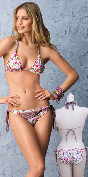 Lady Cat Express お勧め水着通販 LHAB146 Tayel Triangle Top and Tie Side Bikini