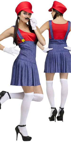 水着/下着/コスチューム/ダンスウェア/ドレスのオークション Pretty Plumber Mario Costume