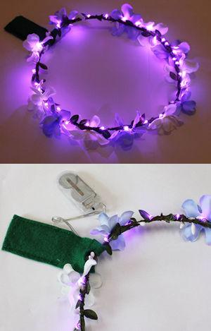 <Lady Cat> LEDライトアップ花冠(はなかんむり)/パープル