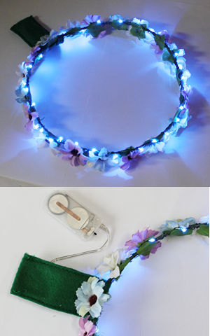 <Lady Cat> LEDライトアップ花冠(はなかんむり)/ブルー