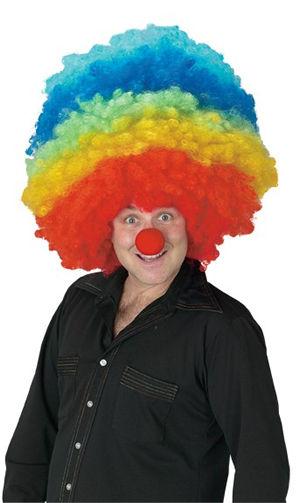 水着/下着/コスチューム/ダンスウェア/ドレスのオークション Mega Clown Multi Color Wig