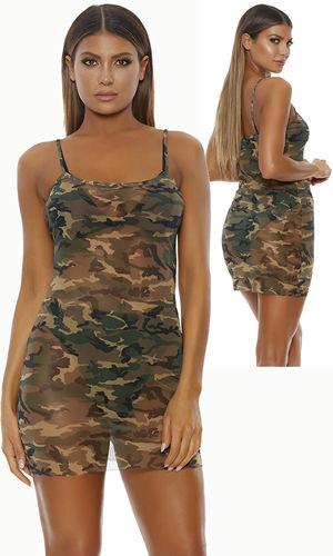水着/下着/コスチューム/ダンスウェア/ドレスのオークション Mesh Cami Mini Dress