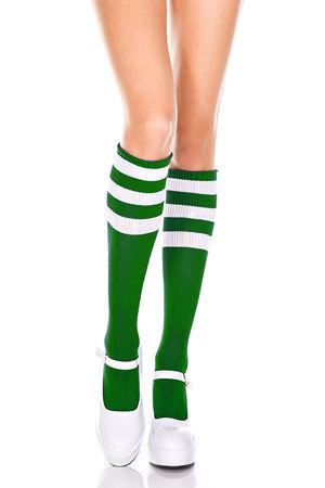 水着/下着/コスチューム/ダンスウェア/ドレスのオークション Athletic Knee Hi with Striped Top